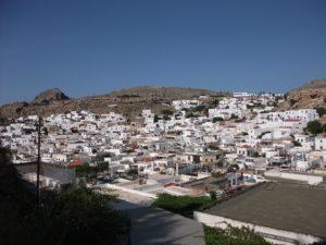 Lindos - Blick von der Akropolis